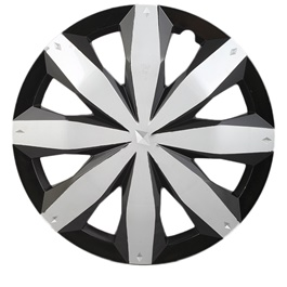 DC Silver Black Wheel Cover - 1295 - 12 inches-SehgalMotors.Pk