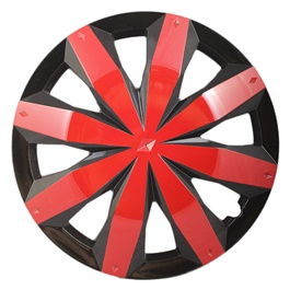 DC Black with Red Line Wheel Cover - 1295 - 12 inches-SehgalMotors.Pk