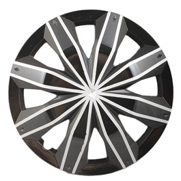 Black with Grey Double Thin line Wheel Cover - 1295 - 12 inches-SehgalMotors.Pk