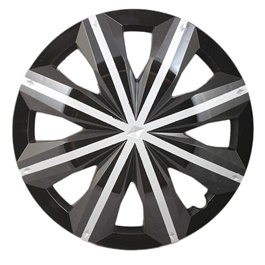 Black with Grey line Wheel Cover - 1295 - 12 inches-SehgalMotors.Pk