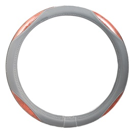 Grey and Brown Steering Cover - 2057-SehgalMotors.Pk