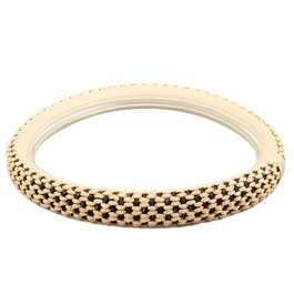 Gold Embroidered Steering Cover - 2367-SehgalMotors.Pk