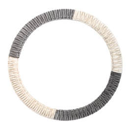 Velvet Steering Cover - Grey and Gold-SehgalMotors.Pk