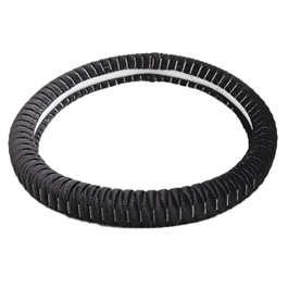 Velvet Steering Cover - Black-SehgalMotors.Pk
