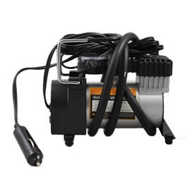Single Cylinder 12 volts Air Compressor - 100 PSI High Pressure Tire / Tyre Inflator-SehgalMotors.Pk