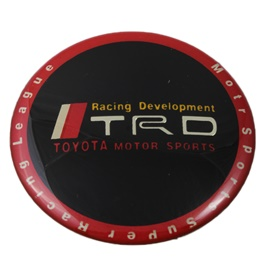 TRD Wheel Caps Logo - Black | Wheel Center Cap | Wheel Logo | Wheel Center Hub Caps | Wheel Dust Proof Covers Badge logo