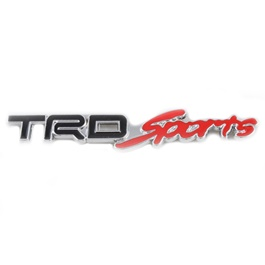 TRD Sports Metal Logo - Black and Red | Emblem | Decal | Monogram | Logo
