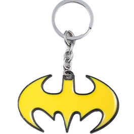 Batman Metal Key Chain / Key Ring - Yellow-SehgalMotors.Pk