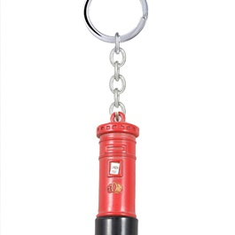 Mail Box Metal Keychain - Red