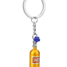 Nos Metal Key Chain / Key Ring - Gold-SehgalMotors.Pk