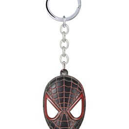 Spiderman Metal Keychain - Red and Black