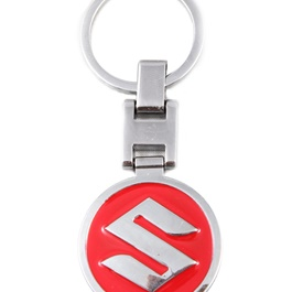 Suzuki Logo Metal Key Chain / Key Ring Red-SehgalMotors.Pk