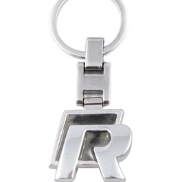 R Metal Key Chain / Key Ring Chrome-SehgalMotors.Pk