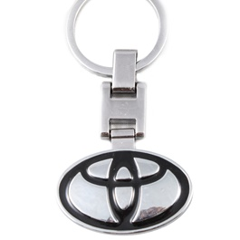 Toyota Logo Key Chain / Key Ring Black-SehgalMotors.Pk