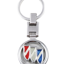 Multicolor Keychain Red Blue Chrome