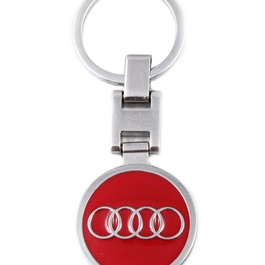 Audi Logo Key Chain / Key Ring Red-SehgalMotors.Pk