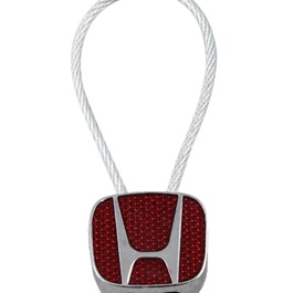 Honda Logo Key Chain / Key Ring Red Chrome-SehgalMotors.Pk
