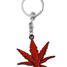 Weed Keychain Red