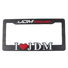 I Love JDM License Plate Frame-SehgalMotors.Pk