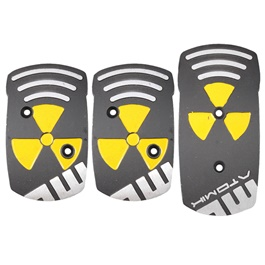 Momo Warning Covers Manual Transmission Universal Black Yellow-SehgalMotors.Pk