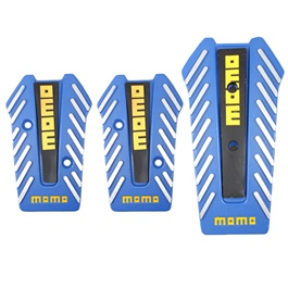 Momo Pedal Covers Manual Transmission Universal Blue Yellow-SehgalMotors.Pk