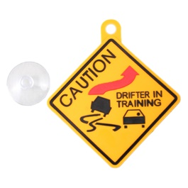 Drifter in Training PVC Hanging Tag for Windshield-SehgalMotors.Pk