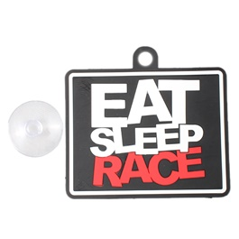 Eat Sleep Race PVC Hanging Tag for Windshield-SehgalMotors.Pk