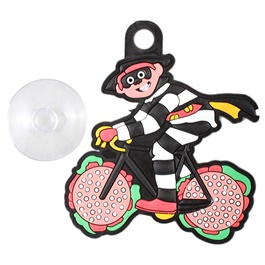 Cycle Clown Cartoon PVC Hanging Tag for Windshield-SehgalMotors.Pk