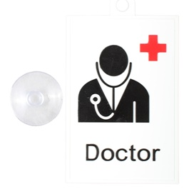 Doctor Plus PVC Hanging Tag for Windshield-SehgalMotors.Pk