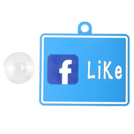 Facebook Like PVC Hanging Tag for Windshield-SehgalMotors.Pk