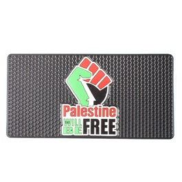 Palestine will be Free Dashboard Non Slip / Anti-Skid Mat-SehgalMotors.Pk