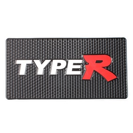 Type R Dashboard Non Slip Mat White Red-SehgalMotors.Pk