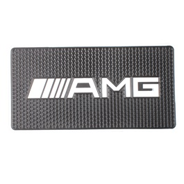 AMG Logo Dashboard Non Slip / Anti-Skid Mat | Anti Skid Material | Silicon Type Dashboard Mat | Car Anti Slip Mat-SehgalMotors.Pk