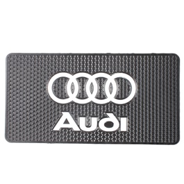 Audi Logo Dashboard Non Slip / Anti-Skid Mat  | Dashboard Cleaner | Interior Cleaner Polish For Dashboard | Automobile Panel Dashboard Wax Cleaner-SehgalMotors.Pk