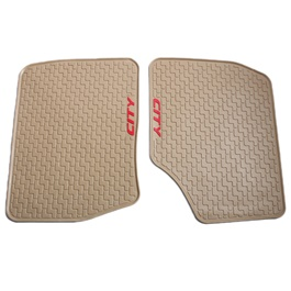 Honda City Custom Floor Mat 3 Pieces Beige - Model 2015-2017-SehgalMotors.Pk
