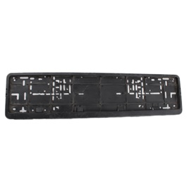UK Style Long Number Plate Frame Black-SehgalMotors.Pk