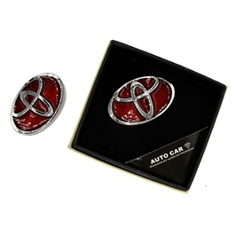 Toyota Auto Car Grill Perfume Red and Chrome-SehgalMotors.Pk