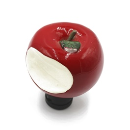 Apple Gear Shift Knob For Auto  Red | Gear Knob | Shift Lever Stick Knob | Lever Knob-SehgalMotors.Pk