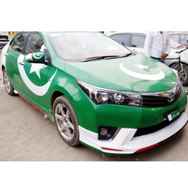 Pakistan Flag Vinyl Wrap For Hatch Back Cars-SehgalMotors.Pk