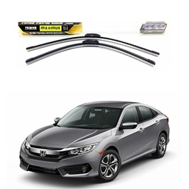 Honda Civic Maximus Premium Silicone Wiper Blades - Model 2016-2020-SehgalMotors.Pk