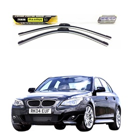 BMW 5 Series Maximus Premium Silicone Wiper Blades - Model 2003 - 2010-SehgalMotors.Pk