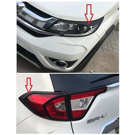 Honda BRV Headlight and Back lights Frame Black Color 4 Pieces - Model 2017-2019 -SehgalMotors.Pk