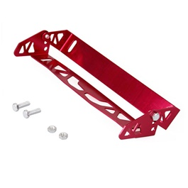 TRD Steel Number Plate License Plate Tilter Red-SehgalMotors.Pk