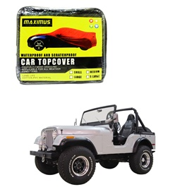 Jeep CJ 5 Maximus Non Woven Scratchproof Waterproof Car Top Cover - Model 1954 - 1983-SehgalMotors.Pk