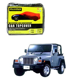 Jeep Wrangler Maximus Non Woven Scratchproof Waterproof Car Top Cover - Model 1996 - 2006-SehgalMotors.Pk