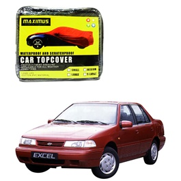 Hyundai Excel Maximus Non Woven Scratchproof Waterproof Car Top Cover - Model 1989 - 1994-SehgalMotors.Pk