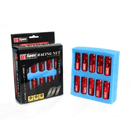 D1 Spec Lug nuts Red 1.5mm-SehgalMotors.Pk