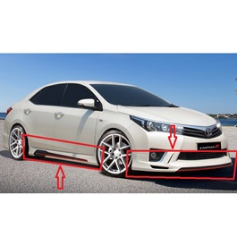 Toyota Corolla Kantara Style ABS Plastic Body Kit China - Model 2014-2017-SehgalMotors.Pk