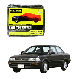 Toyota Corolla Maximus Non Woven Scratchproof Waterproof Car Top Cover – Model 1987-1991-SehgalMotors.Pk