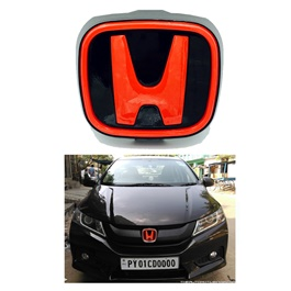 Honda Front Logo Red and Black For si Grille-SehgalMotors.Pk
